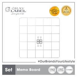 GRAY LABEL Premium Memo Board Meshed Wire 50 x 50 x .35 cm Amazing Stationery Supplies For Office