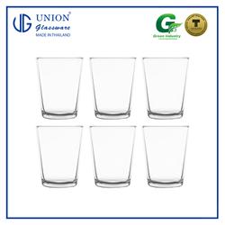 UNION GLASS Thailand Premium Clear Glass Rock Glass 166ml - 5oz Set of 6