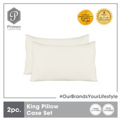 PRIMEO Premium 2 Pillow Case Set King Size 100% Cotton  300 Thread Count Amazing Gift Idea For Any Occasion!
