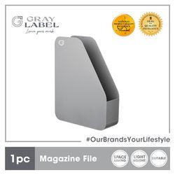 GRAY LABEL Premium Magazine File Organizer High Impact Polystyrene Plastic 32.5 x 25 x 8 cm Amazing Stationery Supplies For Office(Grey)