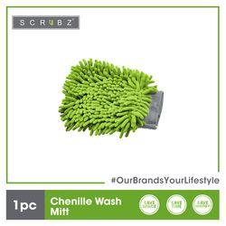 SCRUBZ Premium Chenille Wash Mitt Cleaning Material 23 x 14.5 cm