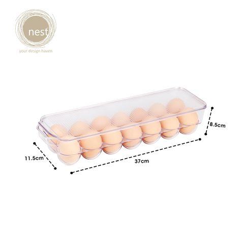NEST DESIGN LAB Premium Durable Egg Tray Refrigerator Organizer 37 x 11.5 x 10 cm Amazing Gift Idea For Any Occasion!
