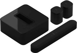 Sonos Beam (Gen 2) Soundbar For TV With Dolby Atmos Set with One SL and Sub - Wireless Home Theater System
