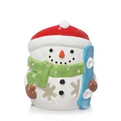 Yankee Candle JAR HOLDER SNOWMAN SNOWBOARD