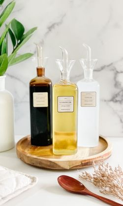 Mayfair & Co. PUGLIA Artisan Glass Oil & Sauce Cruet - LABELLED COLLECTION
