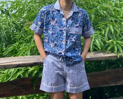 The57.ph Hand Block Print Polo and Shorts Lounge Set - PS-2
