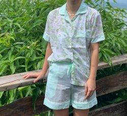 The57.ph Hand Block Print Polo and Shorts Lounge Set - PS-11