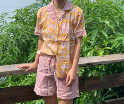 The57.ph Hand Block Print Polo and Shorts Lounge Set - PS-8