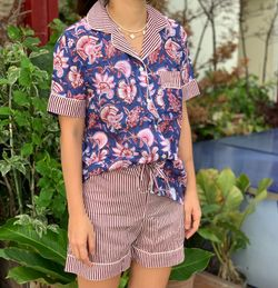 The57.ph Hand Block Print Polo and Shorts Lounge Set - PS-17