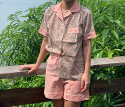 The57.ph Hand Block Print Polo and Shorts Lounge Set - PS-5