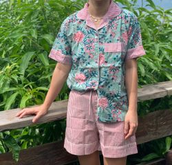 The57.ph Hand Block Print Polo and Shorts Lounge Set - PS-15