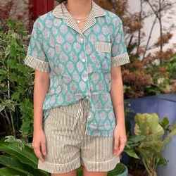The57.ph Hand Block Print Polo and Shorts Lounge Set - PS-18