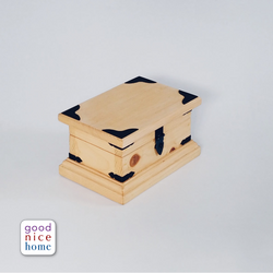 Good Nice Home Rustic Solid Wood Keepsake Box