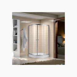 Sannora - Quadrant Shower Enclosure plain with acrylic tray + drain