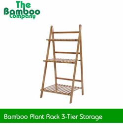 Bamboo Plant Rack 3-Tier Storage