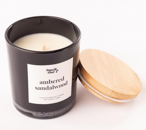 Happy Island Ambered Sandalwood Soy Candle