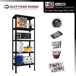 Heavy Duty (HD) Series Series 5 Layers Metal Rack 24 inches (Width) 61 cm x 36 cm x 160 cm