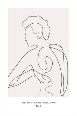 """ABSTRACT FIGURE COLLECTION NO 2 POSTER 8x11"""""""