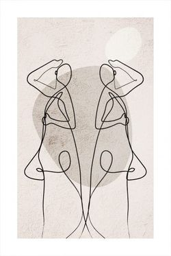 """ABSTRACT FIGURE REFLECTION AND SHAPES POSTER 24x36"""""""