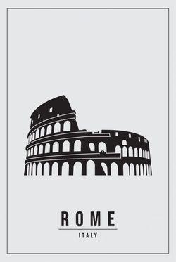 "MINIMAL ROME ITALY POSTER 11x15"""