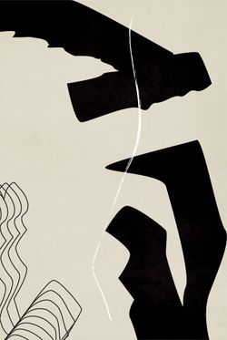 """GRAPHICAL LINES AND SHAPE NO. 5 POSTER 15x19"""""""