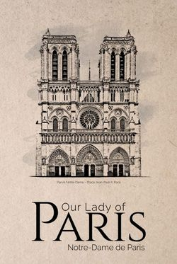 """OUR LADY OF PARIS POSTER 11x15"""""""