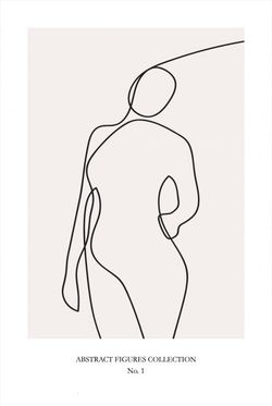 """ABSTRACT FIGURE COLLECTION NO 1 POSTER 24x36"""""""