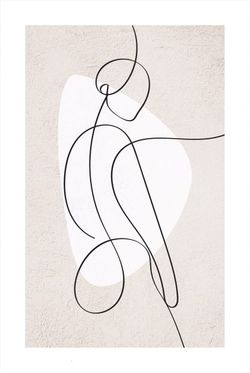 """ABSTRACT FIGURE OF A WOMAN AND SHAPE POSTER 24x36"""""""