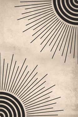 """LINES SUN ABSTRACT CORNER POSTER 15x19"""""""