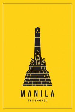 "MINIMAL MANILA PHILIPPINES POSTER 8x11"""