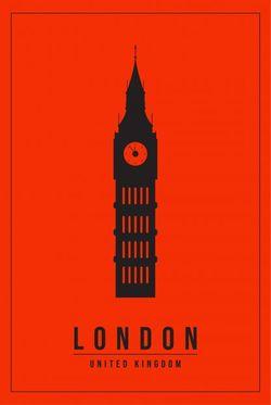 """MINIMAL LONDON UNITED KINGDOM POSTER 8x11"""""""
