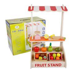 Wooden Fruit Market Stand
