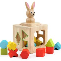 Bunny Shape Sorter for Toddler