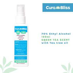 Curabliss 70% Ethyl Alcohol Green Tea Scent with Tea Tree Oil 100ml