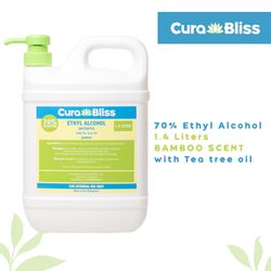Curabliss 70% Ethyl Alcohol Bamboo Scent with Tea Tree Oil 1.4 Liters