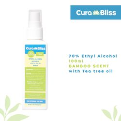 Curabliss 70% Ethyl Alcohol Bamboo Scent with Tea Tree Oil 100ml