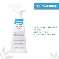 Curabliss 70% Ethyl Alcohol Unscented with Tea Tree Oil 500ml