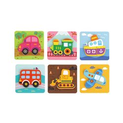 Tooky Toy 6 In Mini Transportation Puzzle