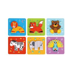 Tooky Toy 6 In Mini Animal Puzzle