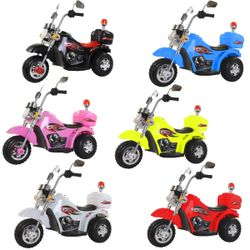Rechargeable Police Ride-On Motor Toy for Kids