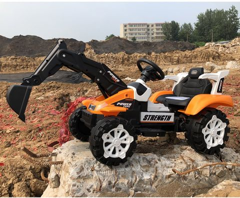 Rechargeable All Strength Excavator Backhoe Ride On Car Toy
