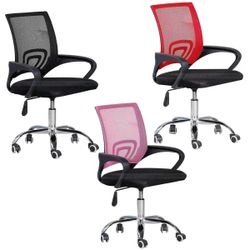Computer Chair Office Chair Fabric Chair Soft Ergonomic Mesh Adjustable and Swivel with Comfortable Lumbar Support