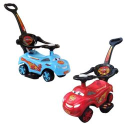 Cars Lightning McQueen 3 in 1 Ride-on Toy Car Push Stroller with Music