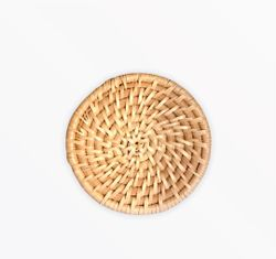 Manang.ph Round Thick Rattan in Natural coaster (SOLD BY 6)