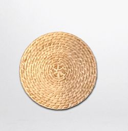 Manang.ph Round Thin Rattan in Natural coaster (SOLD BY 6)