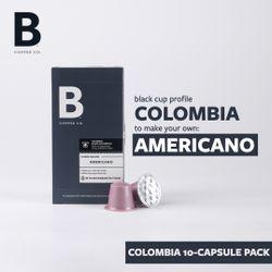B Coffee Co. Colombia Americano - 10 capsules pack