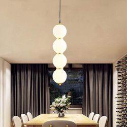 Iris B Glass Sphere with Gold Details Pendant Light