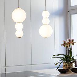 Iris D Glass Sphere with Gold Details Pendant Light
