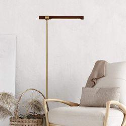 Halden Wooden Finish Modern Floor Lamp