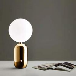 Oviedo Gold Glass Ball Table Lamp